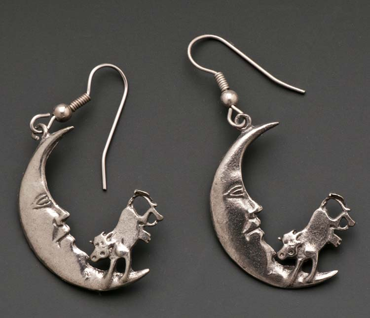 Cow Jumped Over The Moon Earrings C437